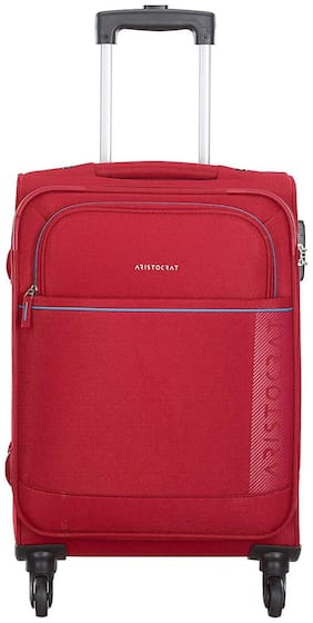 ARISTOCRAT Luggage Cabin Size Soft Luggage Bag ( Red , 4 Wheels )