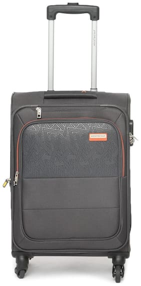 ARISTOCRAT Cabin Size Soft Luggage Bag ( Grey , 4 Wheels )