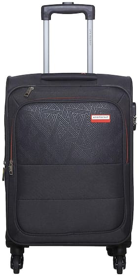 ARISTOCRAT Luggage Cabin Size Soft Luggage Bag ( Grey , 4 Wheels )
