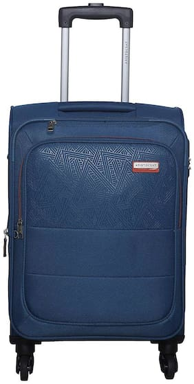 ARISTOCRAT Luggage Cabin Size Soft Luggage Bag ( Blue , 4 Wheels )