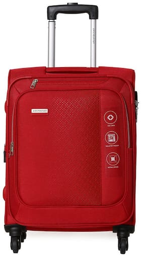 ARISTOCRAT Cabin Size Soft Luggage Bag ( Red , 4 Wheels )