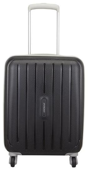 ARISTOCRAT PHOTON STROLLY 55 360° JBK Cabin Size Hard Luggage Bag ( Black , 4 Wheels )