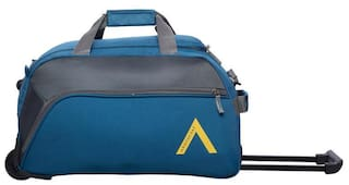ARISTOCRAT Unisex Polyester Zipper Luggage & Trolley Bags Blue