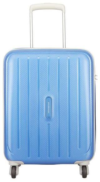 ARISTOCRAT PHOTON STROLLY 55 360° MAB Cabin Size Hard Luggage Bag ( Blue , 4 Wheels )