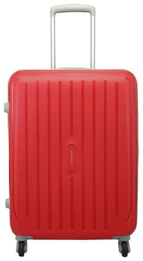 ARISTOCRAT PHOTON STROLLY 65 360° FIR Medium Size Hard Luggage Bag ( Red , 4 Wheels )
