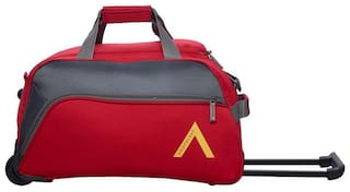 ARISTOCRAT Unisex Polyester Zipper Luggage & Trolley Bags Red
