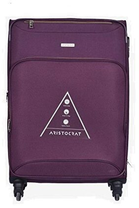 Aristocrat Valentina 81 cm Polyester Trolley (Purple)
