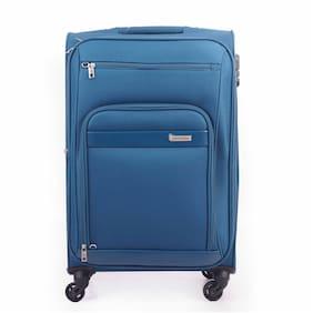 ARISTOCRAT Veyron Cabin Size Soft Luggage Bag ( Blue , 4 Wheels )