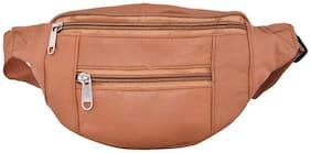 AspenLeather  Pure Leather Tan Waist Bag