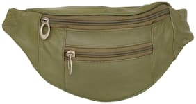 AspenLeather  Pure Leather Olive Waist Bag