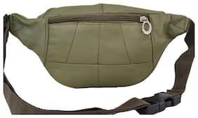 AspenLeather  Pure Leather Olive Waist Bag