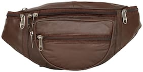 AspenLeather  Pure Leather Brown Waist Bag