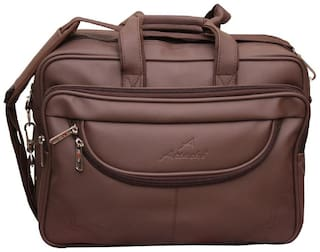 Attache Synthetic Leather 15.6-Inch Laptop Black Executive Office Bag (Brown)