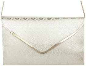 AWESOME FASHIONS WOMEN CLUTCH ROYALSILVER