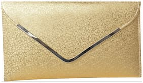 Awesome Fashions Women's Clutch ROYAL GOLDEN