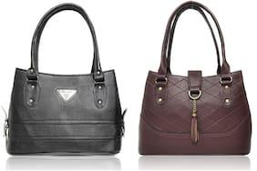 AZED Collections Black & Brown PU Shoulder Bag