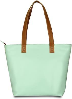 BABES & BABAS Girls / Women's Faux Leather Tote Bag / Shoulder Bag / Handbag -Green