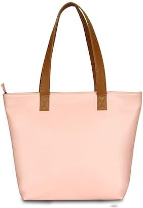 BABES & BABAS Girls / Women's Faux Leather Tote Bag / Shoulder Bag / Handbag - Pink