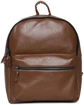 Bagsy Malone Brown Waterproof Pu Backpack