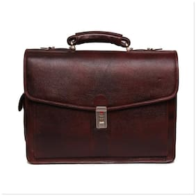 "Bag Jack  - ""Eridanus : Forsieri"" rich dimension and impressive depth brown color leather office bag"