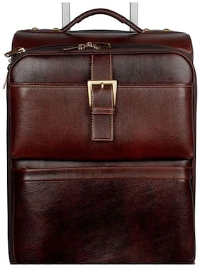 """Bag Jack  - Set in style with the """"Phoenix : Stefano Ricci"""" handcrafted cabin brown color leather travel briefcase bag"""