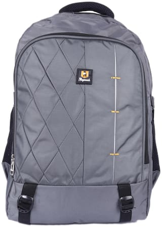 Bagneeds Grey Synthetic Laptop backpack
