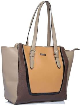 Addons Women Solid PU - Tote Bag Grey