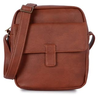 0dc6b25eb1f6 Buy Baggit Synthetic Men Sling Bag - Brown Online at Low Prices in ...