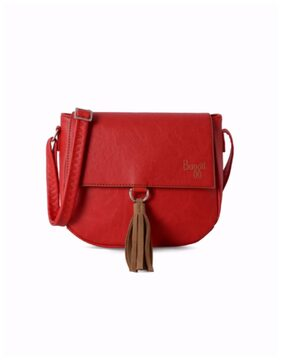 Baggit Women Solid Pu - Sling Bag Red