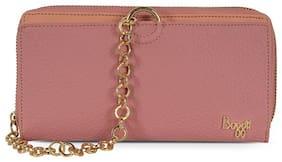Baggit Women Pink Synthetic Wallet