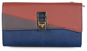 Baggit Women Blue Synthetic Wallet