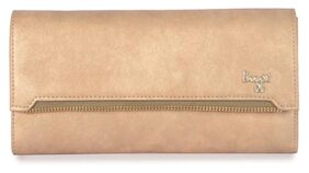 Baggit Women Solid Synthetic - Clutch Gold
