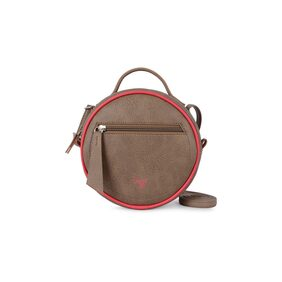 Baggit Women Solid Synthetic - Sling Bag Beige