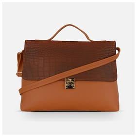 Baggit Tan Synthetic Handheld Bag