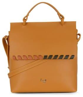 Baggit Yellow Synthetic Handheld Bag