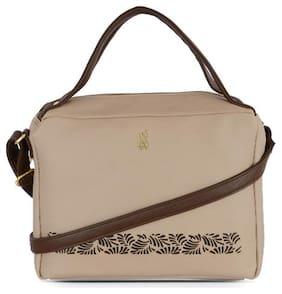 Baggit Beige Synthetic Hobo Bag