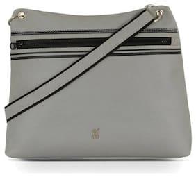 Baggit Grey Synthetic Hobo Bag