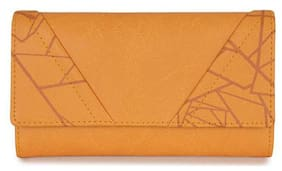 Baggit Women Yellow Synthetic Wallet