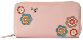 Baggit Women Solid Synthetic - Clutch Pink