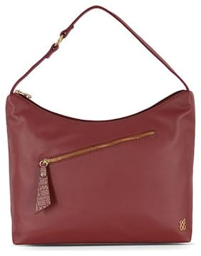 Baggit Red Synthetic Hobo Bag