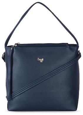 Baggit Blue Synthetic Hobo Bag - L GLOSSES Y G Z