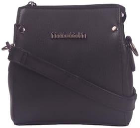 Oversized Crossbody Bag ( Black )