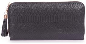 Bagkok Women Black PU Wallet