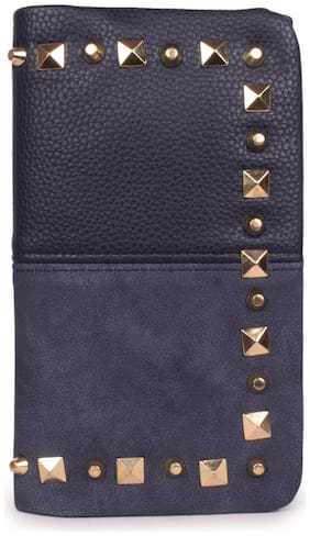 Bagkok Women Blue PU Wallet
