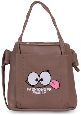 Bagkok Brown PU Solid Sling Bag