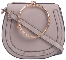 Oversized Crossbody Bag ( Grey )