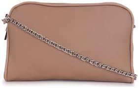 Bagkok Brown PU Solid Sling Bag