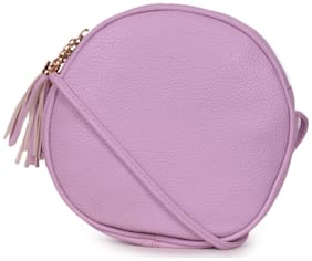 Bagkok Purple PU Solid Sling Bag