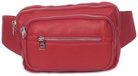 Bagkok Red PU Waist Pouch