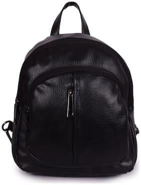 Bagkok Black PU Backpack
